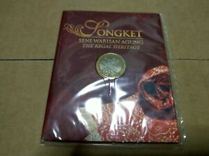 Coin card rm1 nordic gold The Regal Heritage songket 2005 Unc bu