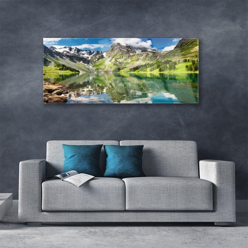 Immagini muro immagini in Vetro Stampa su vetro vetro vetro 125x50 MONTAGNA MARE PAESAGGIO 75ac91