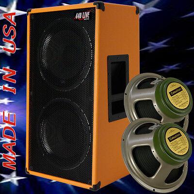 2x12 vertical guitar speaker cabinet orange tolex w celestion greenback spkrs ebay. Black Bedroom Furniture Sets. Home Design Ideas