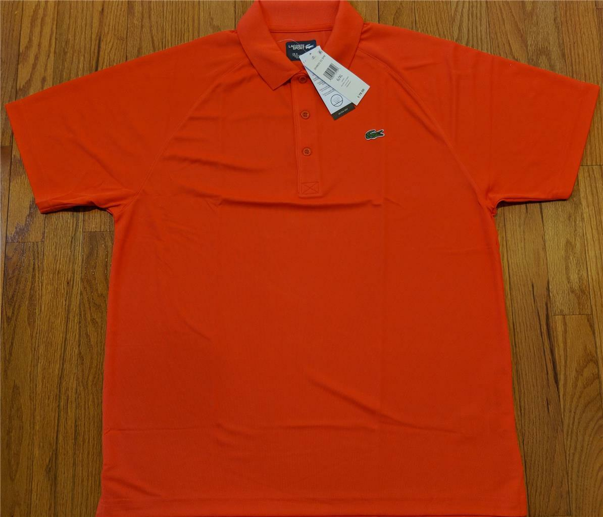 Mens Authentic Lacoste Sport Super Light Polo Shirt Mexico Red 6 (XL)