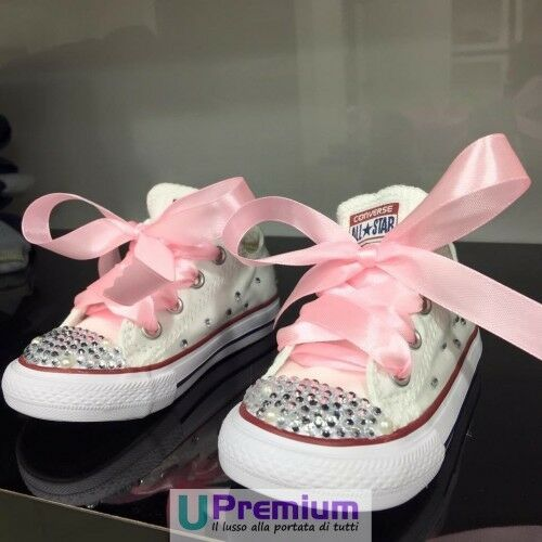 Converse All Star Swarovski & Pearls Sparkle [Product Customized] Shoes Bor