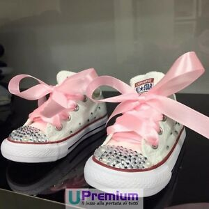 Converse All Star Swarovski Perle Sparkle Scarpe Borchiate ORIGINALI 100% IT