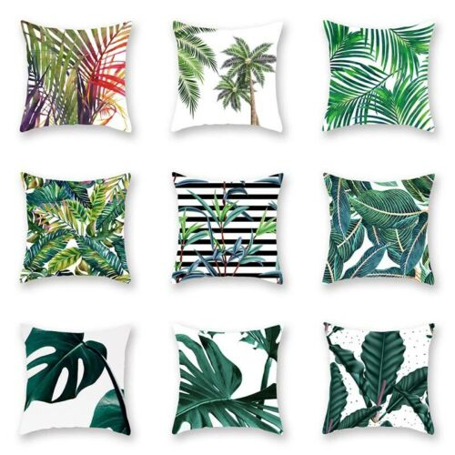 Pillow Case Floral Leaf Home Decoration Garden Outdoor Soft Cushion Covers