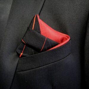 Pocket Square Handkerchief Men/'s Suit Accessory Vintage Japanese Kimono Fabric Snowflake