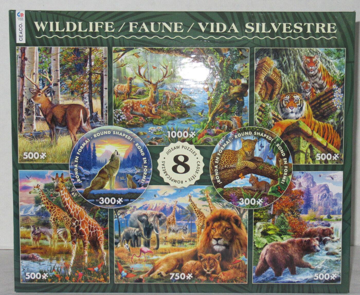 Ceaco 8 puzzles wildlife 300 500 750 1000 stcke katzen tragen wolf savannah tiere