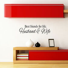 Best Friends Husband Wife Quote Wall Decal Room Sticker Vinyl Mural Home Decor