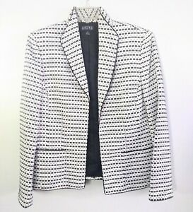 Kasper-Separates-Black-and-White-Women-039-s-Size-12-Career-Jacket-Blazer-EUC-Tweed