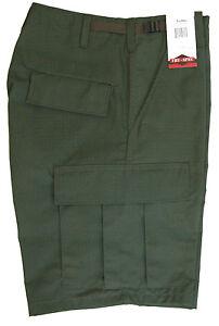 BDU-Cotton-Cargo-Shorts-Zipper-Fly-Army-Style-Camo-by-TRU-SPEC-OLIVE-GREEN