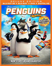 Penguins of Madagascar (Blu-ray/DVD, 2015, Includes Digital Copy 3D/2D) 3-DISC S
