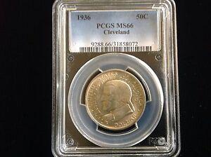 1936 Cleveland Commemorative Silver Half Dollar 50C Coin PCGS MS66