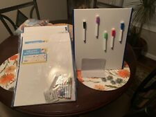 New Listingtabletop Magnetic Easel Whiteboard 2 Sides Includes 6 Dry Erase Markers Dr