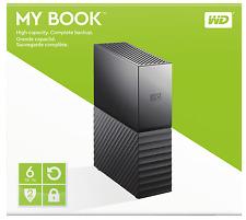 """HARD DISK ESTERNO 3,5"""" WD 6TB MY BOOK WESTERN DIGITAL WDBBGB0060HBK"""
