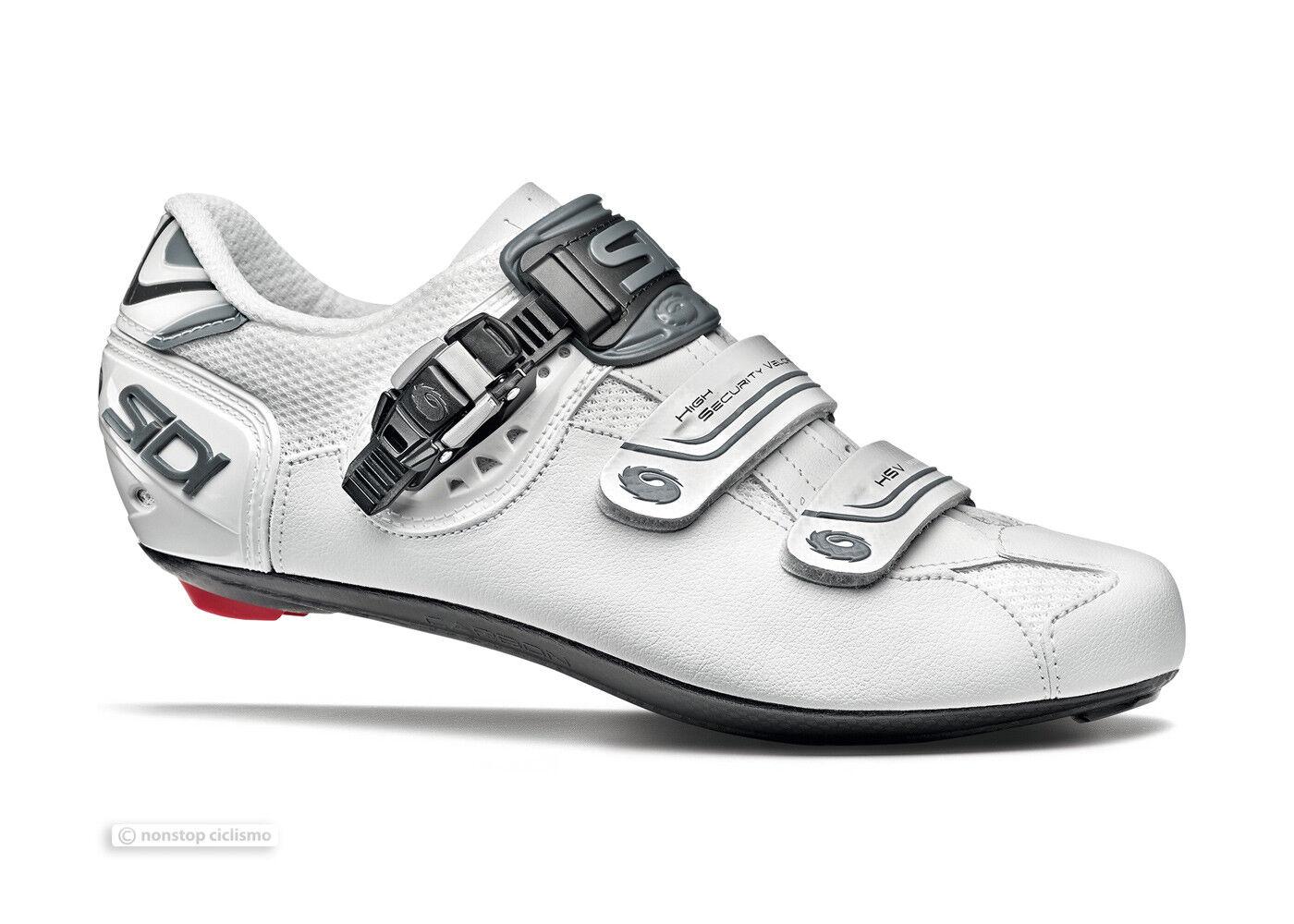NEW 2019 Sidi GENIUS 7 MEGA Wide Road Cycling shoes   SHADOW WHITE