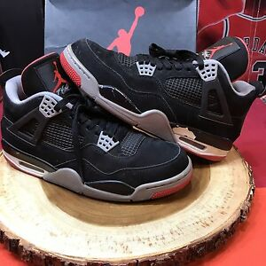 best authentic fc1a2 4f560 Image is loading Nike-Air-Jordan-Retro-IV-Bred-Size-10-