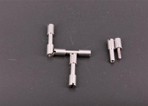 4,7 mm 4 Stück Corby Niete Micro 3//16 Edelstahl für Messerbau Schraubniete