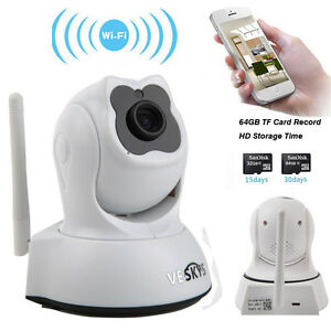 720P HD Pan Tilt Wireless CCTV Security Camera Home WiFi IP Webcam Night Vision