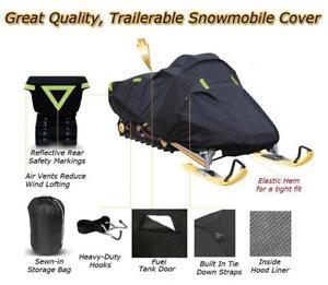 Super Quality Trailerable Snowmobile Sled Cover fits Polaris 800 RMK Khaos 155 2020