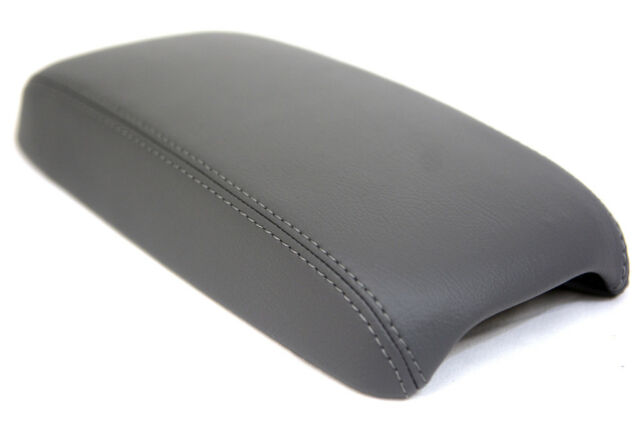 Automotive Fabric Gray Center Console Lid Armrest Cover Fit 03-08 Mazda 3 Center