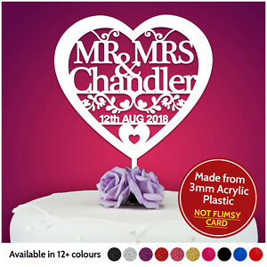 Heart-Personalised-Wedding-Cake-Topper-Table-Decoration-Mr-Mrs-Bride-and-Groom