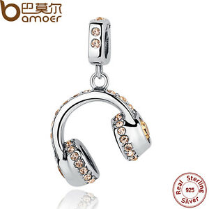 Bamoer-Solid-S925-Sterling-Silver-Charms-headphones-With-Crystal-Fit-Bracelets