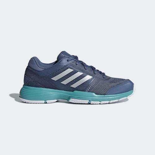 Adidas AH2098 Women Barricade Tennis shoes navy silver bluee sneakers