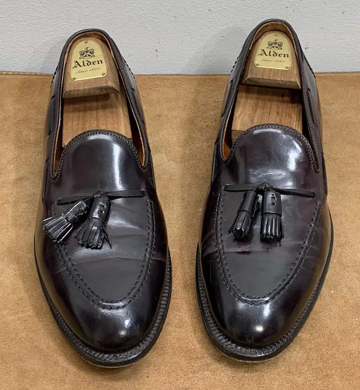 Alden Brooks Brothers Shell Cordovan Farbe 8 Tassel Loafer Slip On Men's 10.5 D