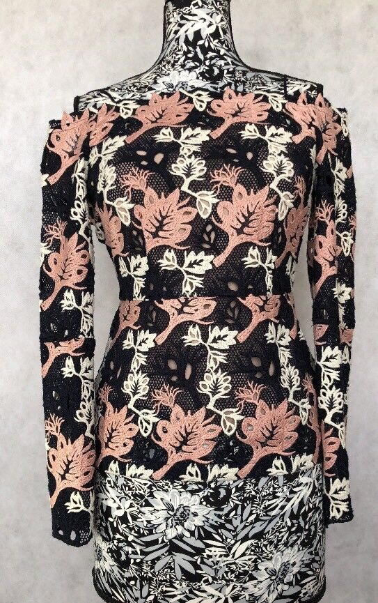 Yigal Azrouel Damens Top Größe 0 NWT Floral Lace
