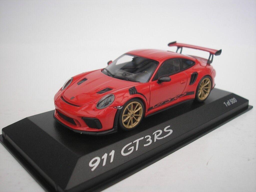 PORSCHE 911 GT3 GT3 GT3 RS  2018 INDISCHred 1 43 MINICHAMPS WAX02020084 NEU 19d9bf