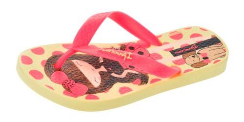 Yellow Pink Ipanema Dotty Girls Beach Flip Flops Pool Sandals Polka Dot