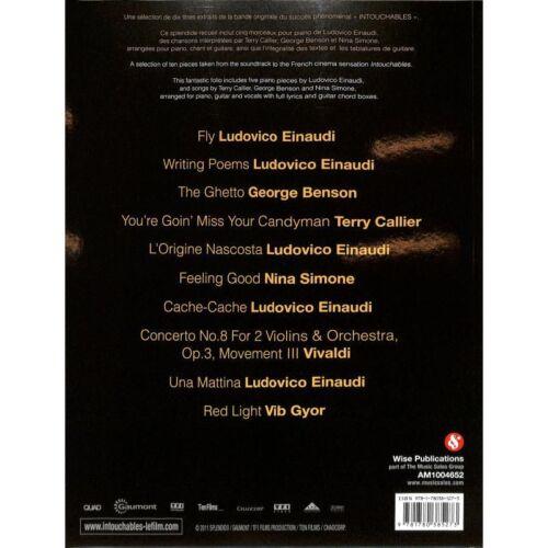 Intouchables - Songbook Klavier Gesang /& Gitarre Noten Ziemlich beste Freunde