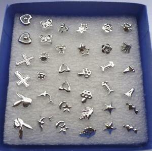 48PCS-lot-Wholesale-Lady-Women-039-s-Silver-Plated-Stud-Random-Earrings-Jewelry-New