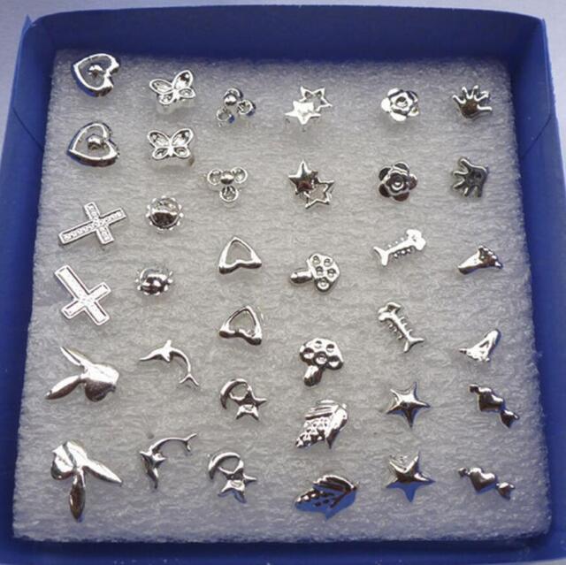 48PCS lot Wholesale Lady Women's Silver Plated Stud Random Earrings Jewelry New