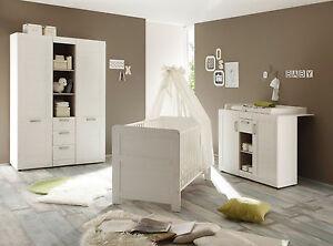 babyzimmer kinderzimmer weiß komplett set 3-tlg. neu pinie möbel, Moderne deko