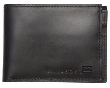 Men's Billabong Exchange Black Leather Slim Flip Wallet. RRP $39.99. NWOT.