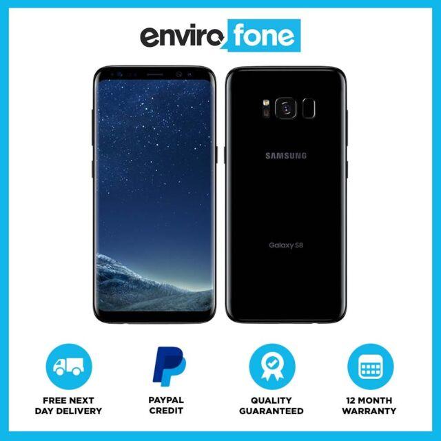 Samsung Galaxy S8 Plus Midnight Black Sm-g955f 64gb EE