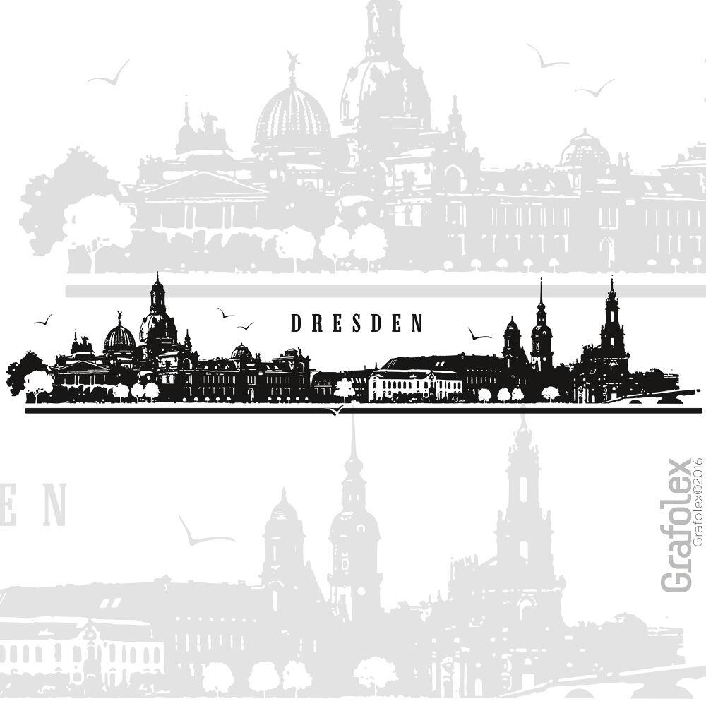 Dresde skyline murales parojo Pegatina de parojo Sticker Adhesivo 4 tamaños w114c