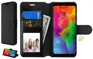 For-LG-Stylo-4-Phone-Leather-Flip-Wallet-Case-Protector-Cover-Stand-Pouch-BLACK