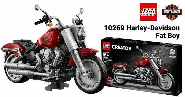 Lego Creator Harley Davidson Fat Boy 10269 1023 Pieces New with Box