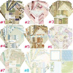 8Style 24X Scrapbooking Paper Handmade DIY Photo Album Background Craft Card 6''