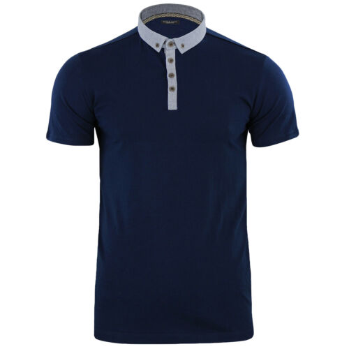 Brave Soul Homme Chimère Oxford Manches Courtes Coton Polo Shirt Tee Top