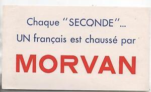 Buvard - Chaque Seconde Un Français Est Chaussé Par Morvan. (réf. 67/20). Njims1bk-07230736-295406132