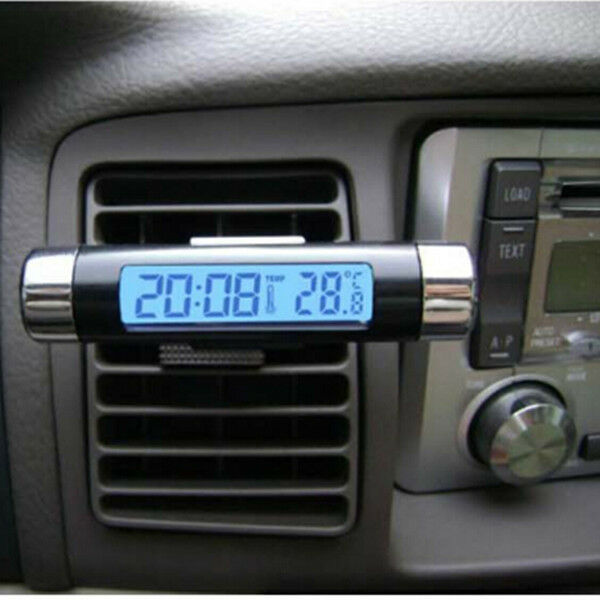 Hot New Car LCD Temperature Thermometer Monitor Time Clock Calendar with Clip