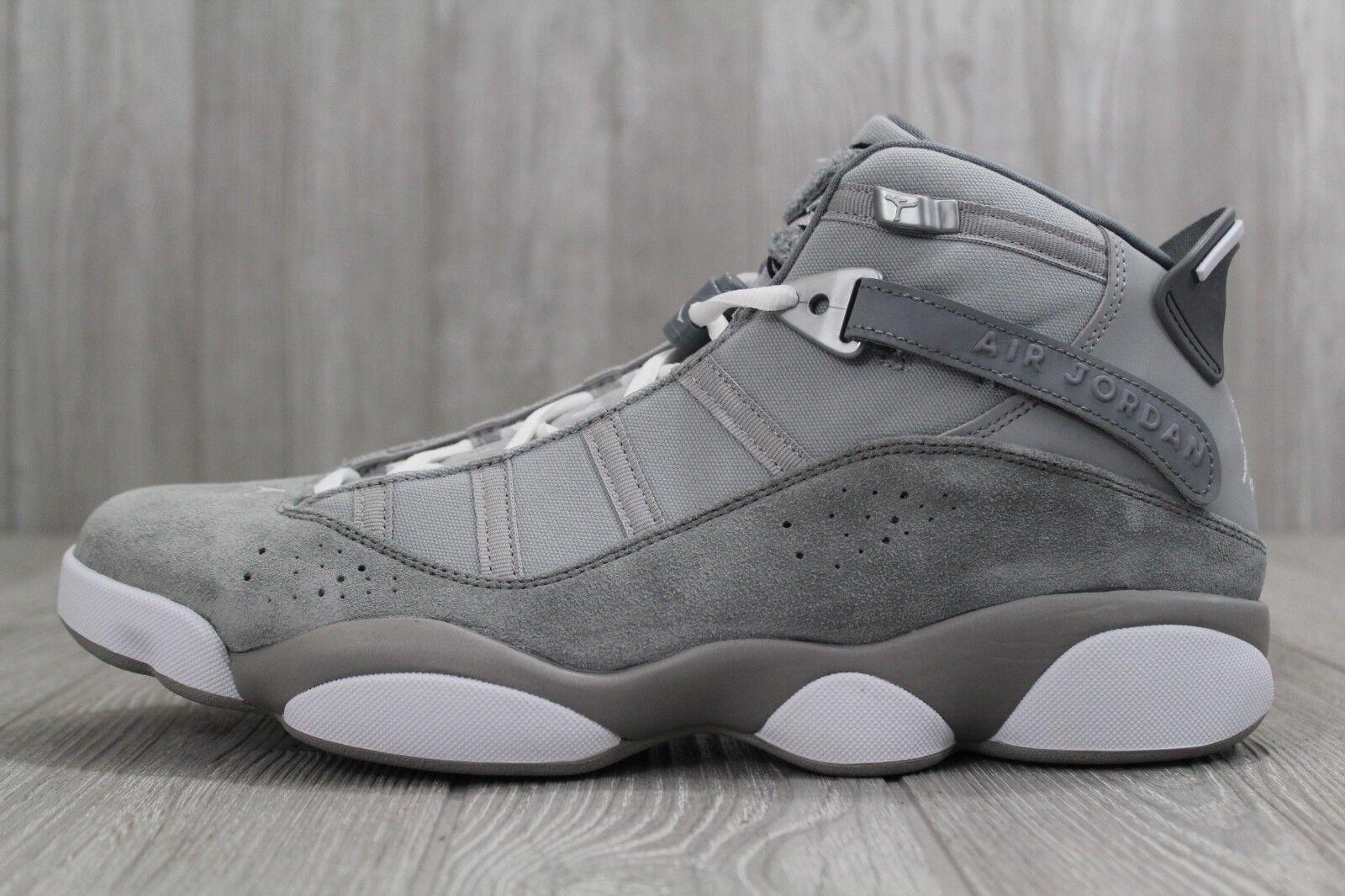 33 Nike Air Jordan 6 Rings Basketball Shoes Matte Silver Size 9.5- 13 322992 014