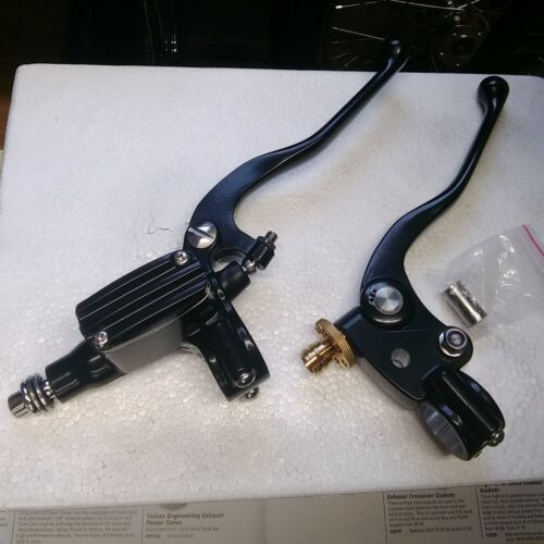 KUS TECH CLASSIC HAND CONTROLS BRAKE RESOVIOUR LEVER CLUTCH LEVER HARLEY