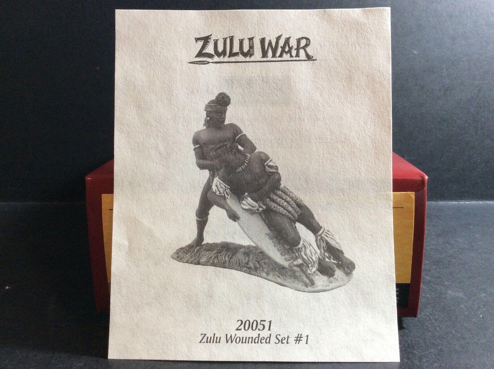 Britains Zulu War 20051 Zulu Wounded No.1 2-pce 54mm Figures Ltd Ed 050 800 MIB