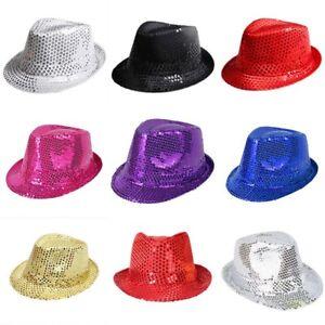 821d08e594c Image is loading Kids-Girls-Boys-Glitter-Sequin-Sequinned-Fedora-Trilby-