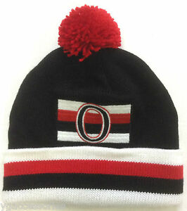 d8f977f0229407 NWT NHL Ottawa Senators Mitchell and Ness Cuffed Pom Knit Hat Cap ...