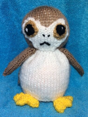 KNITTING PATTERN Star Wars inspired Porg chocolate orange cover or 13 cms toy