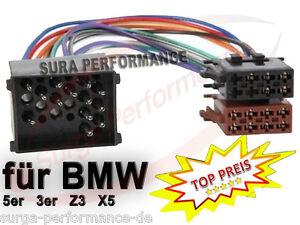 Auto radio ISO adaptador cable para bmw e30 e36 e46 e34 e39 e32 e38 e31 x5 mini mg