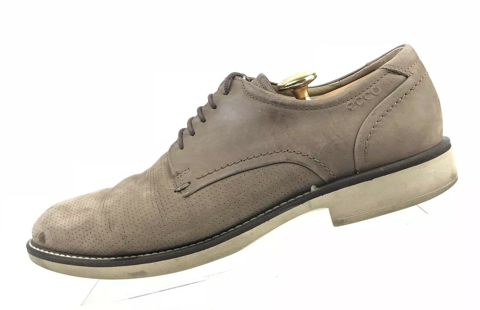Ecco Size US 10 - 10.5 Mens brown Suede Oxford shoes A1014